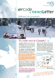 ARCADE's Newsletter N10 (in french)