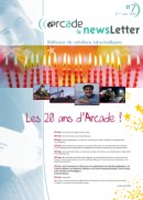 ARCADE's Newsletter N7 (in french)